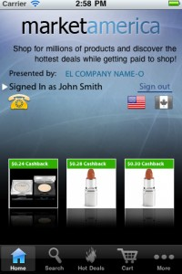 market america app 200x300 Market America adds bar code scanning and a deal locator to its mobile app
