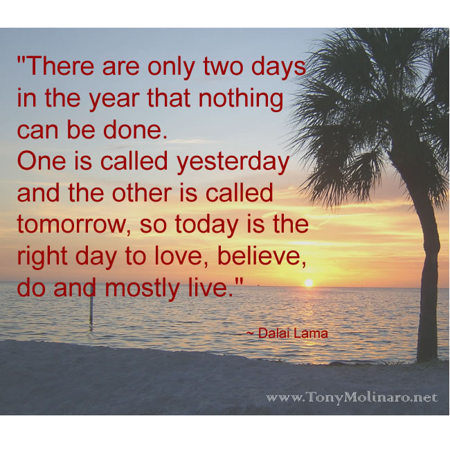Inspirational | Internet Home Business Dalai Lama Quotes There Are Only Two Days