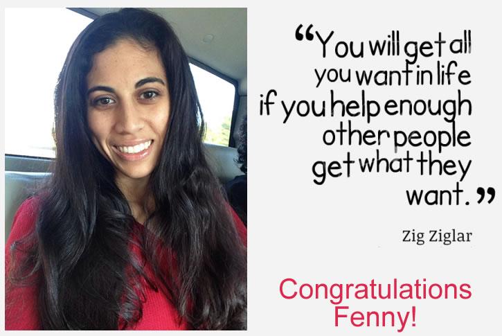 Congratulations Fenny
